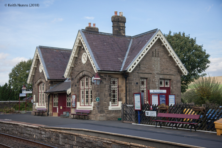 242580: Horton-in-Ribblesdale Station - Main Building & Booking Office (Up): Elevation view from the South West