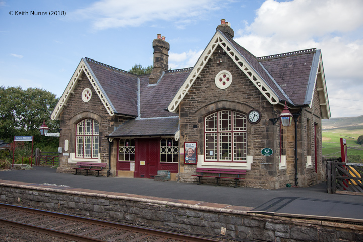 242580: Horton-in-Ribblesdale Station - Main Building & Booking Office (Up): Elevation view from the West