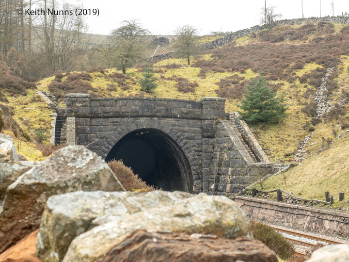 250780: Blea Moor Tunnel North Portal (Bridge No 072): Elevation view from the North East