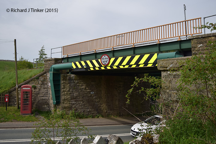 266650: Bridge SAC/181 - Kirkby Stephen Road / A685 (PROW - road): Detail view from the South