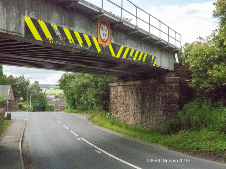 288330: Bridge SAC/288 - Alston Road / A686 (PROW - road): Detail view from the East