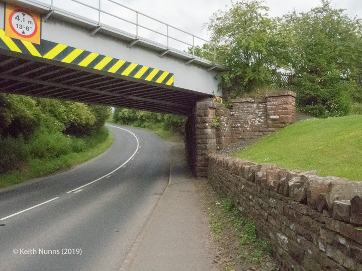 288330: Bridge SAC/288 - Alston Road / A686 (PROW - road): Detail view from the West