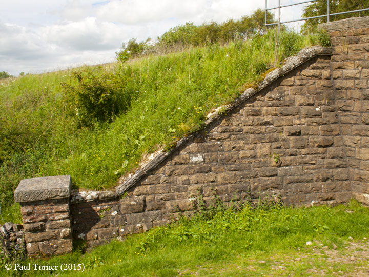 Bridge 172 - Back of Birkett: Elevation view of North-West wing wall
