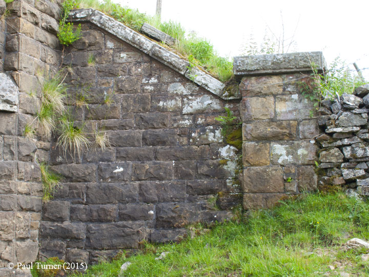 Bridge 172 - Back of Birkett: Elevation view of South-West wing wall