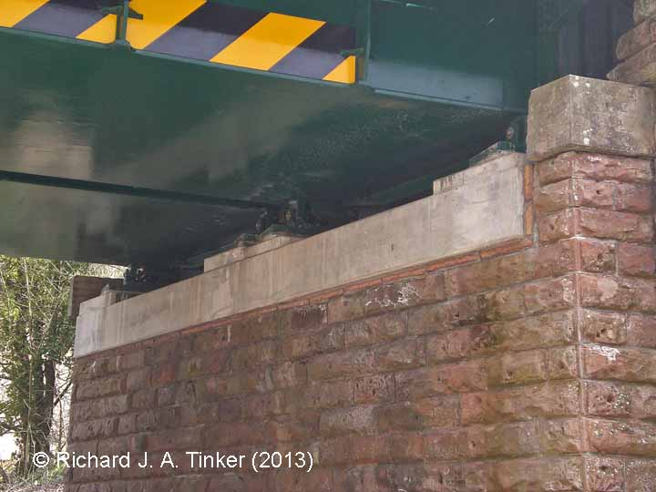 Bridge SAC/254 (Long Marton Road): South abutment and both rail-decks