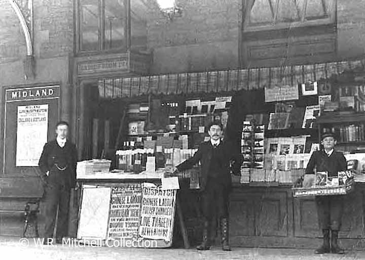 Early bookstall on Hellifield Station