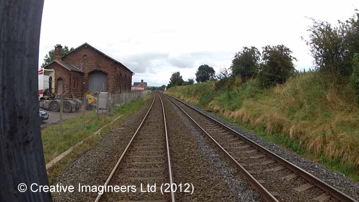288180: Langwathby Station - Goods Shed: Cab-view video still (northbound)