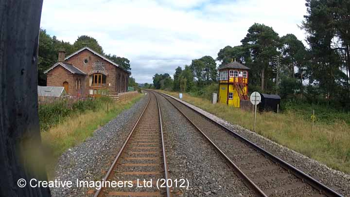 298230: Armathwaite Station - Goods Shed: Cab-view video-still (northbound)