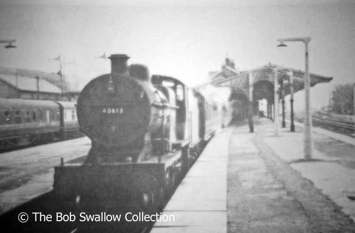 Fowler 2P no. 40613 in the north-western bay platform at Hellifield Station