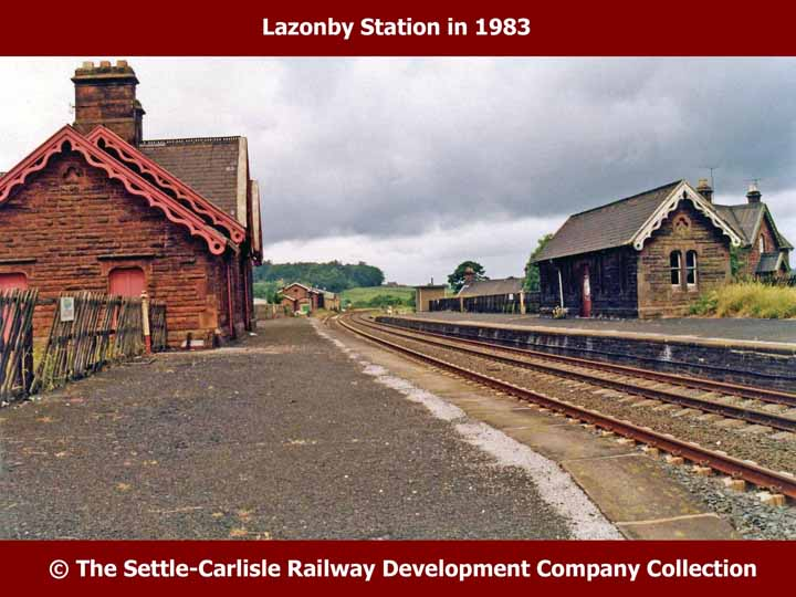 Lazonby & Kirkoswald Station: Context view from the south-east (1983)