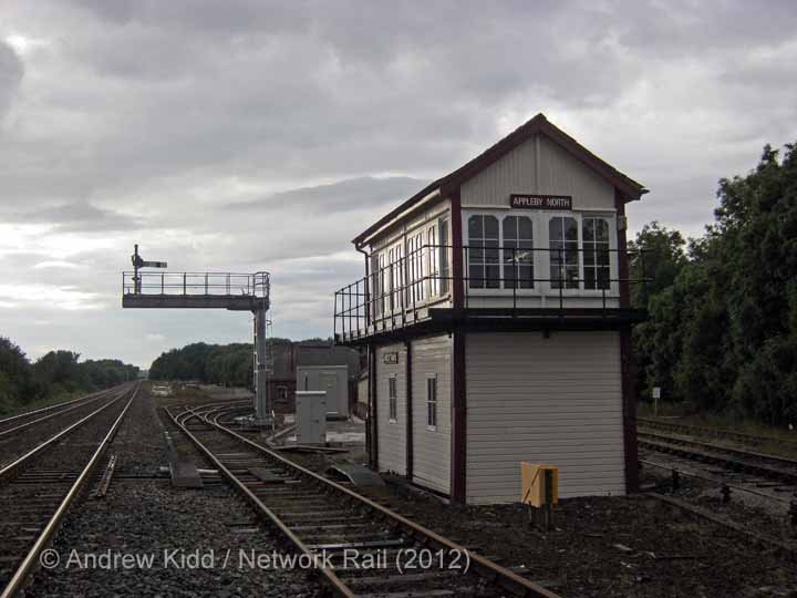 Appleby North Signal Box: South elevation view