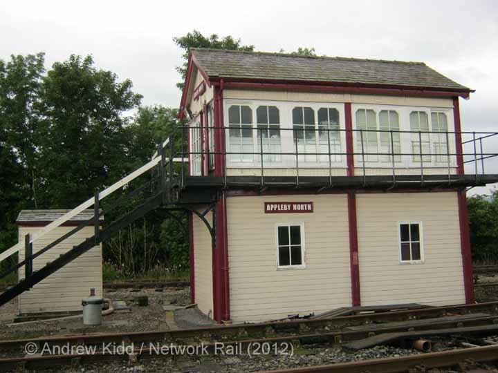 Appleby North Signal Box: South-west elevation view