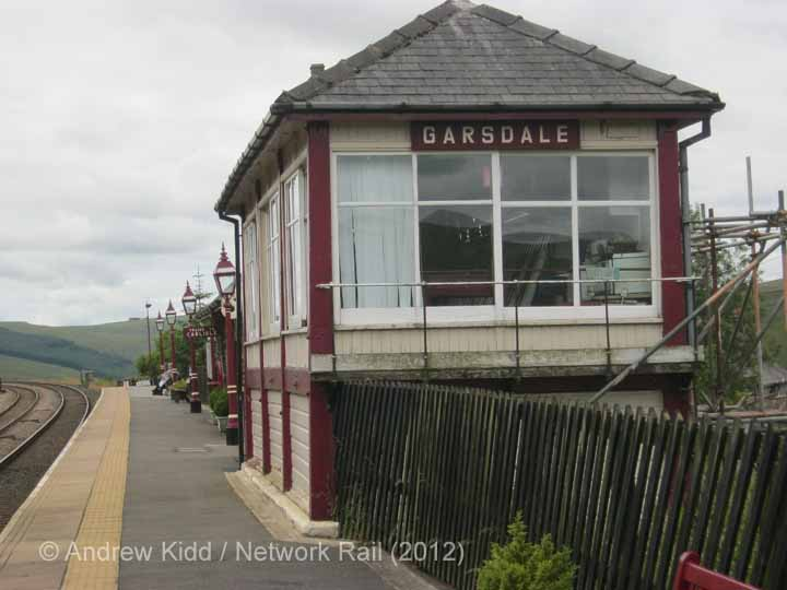Garsdale Signal Box: North-eastern elevation view