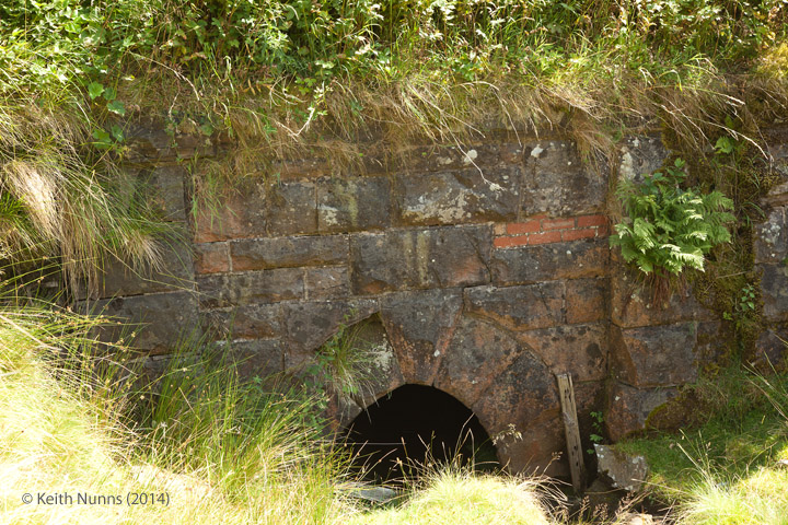 263310: Bridge SAC/160 - Dry Gill (culvert 4' ): Detail view from the west