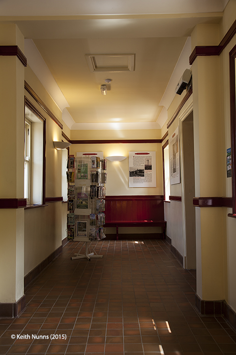 Garsdale Station 'Up' Waiting Room: Interior view, from the southwest.