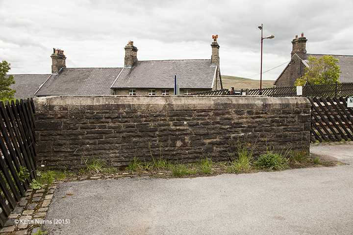 256630: Garsdale Station - Passenger Platform: Elevation view from the east