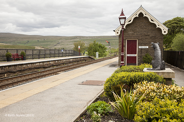256630: Garsdale Station - Passenger Platform:Elevation view from the south west