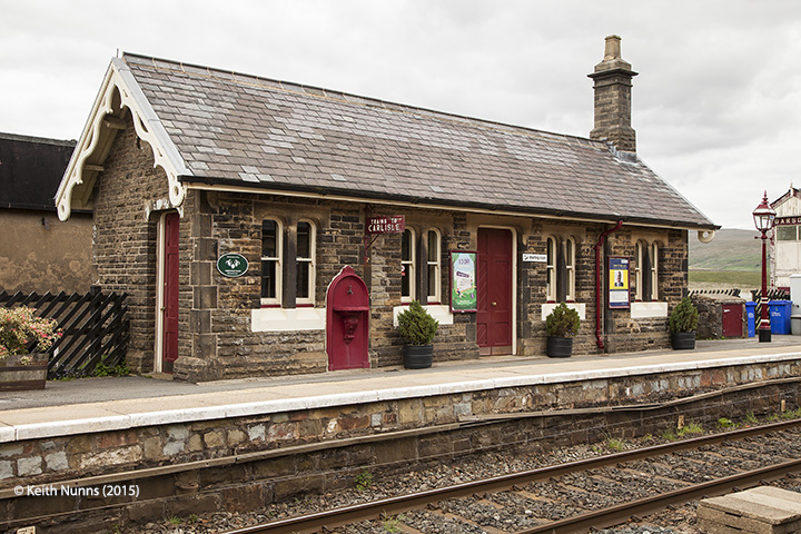 256670: Garsdale Station - Waiting Room (Down): Elevation view from south east