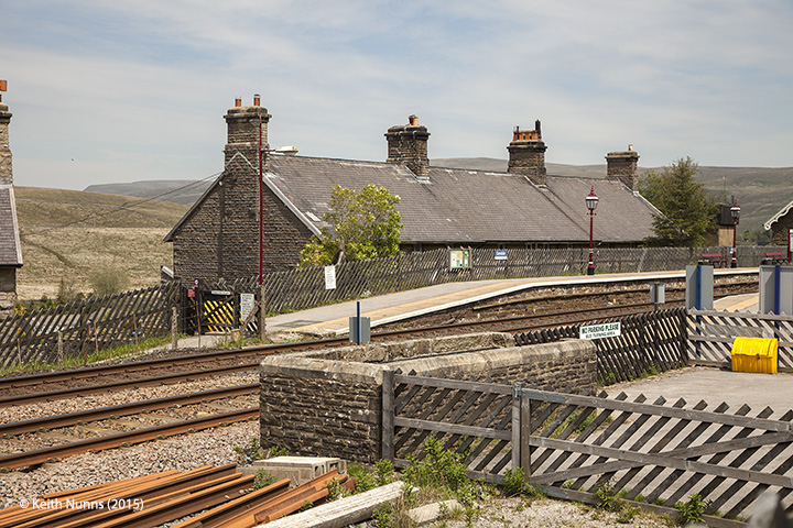 256630: Garsdale Station - Passenger Platform:Elevation view from the south east