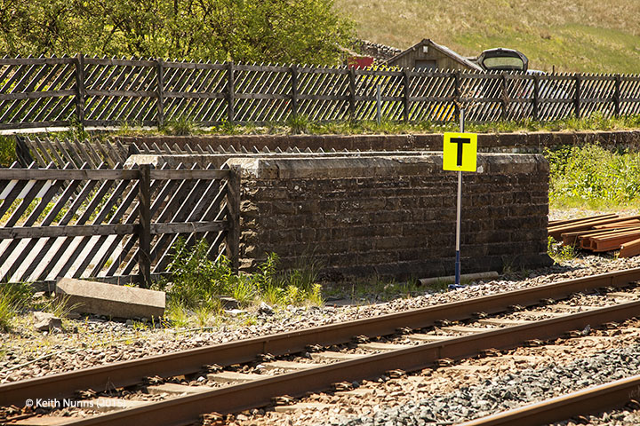 256630: Garsdale Station - Passenger Platform: Elevation view from the west