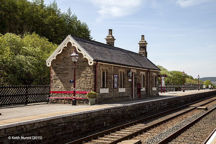 Garsdale Station 'Up' Waiting Room: Elevation view from northwest.