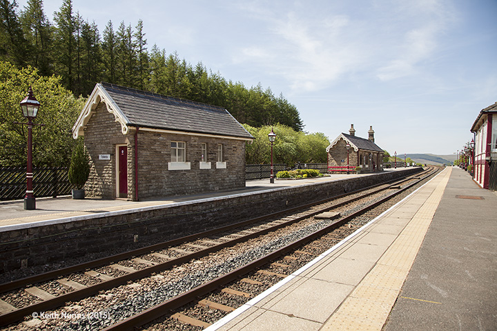 256630: Garsdale Station - Passenger Platform: Context view from the north
