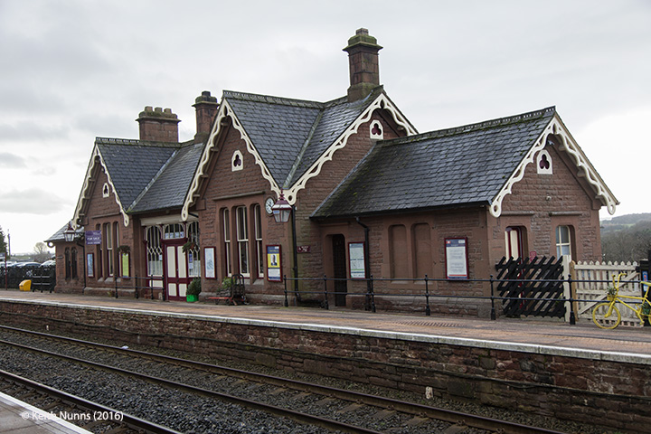 288280: Langwathby Station - Main Building: Elevation view from the north east