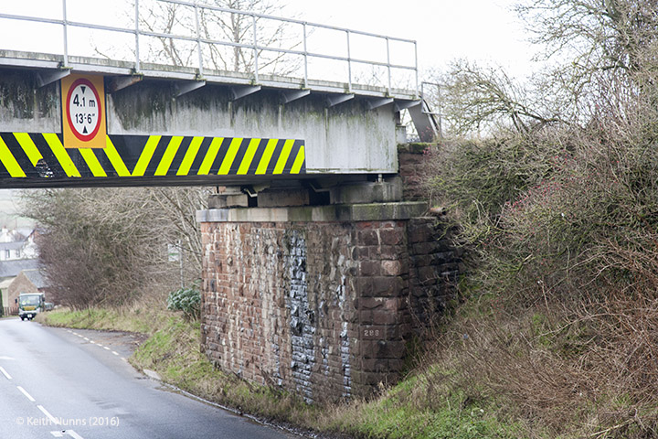 288330: Bridge SAC/288 - A686 Alston Road: Detail view from the east