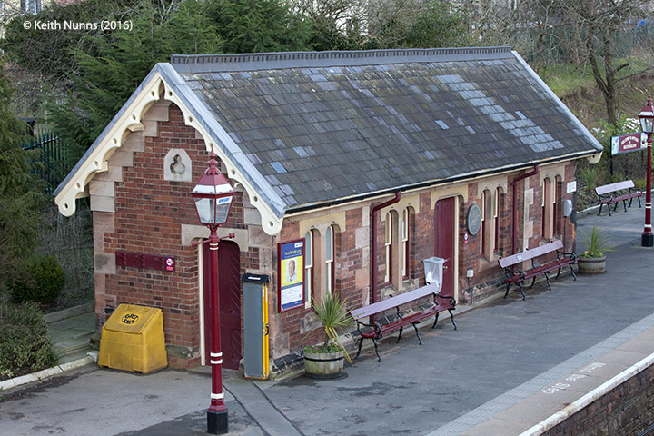 277260: Appleby Station - Waiting Room (Up): Elevation view from the north