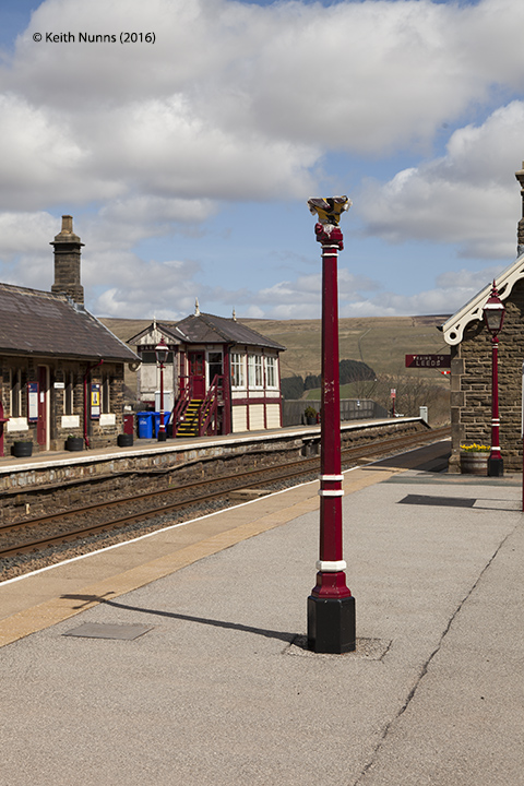 256630: Garsdale Station - Passenger Platform:Elevation view from the south