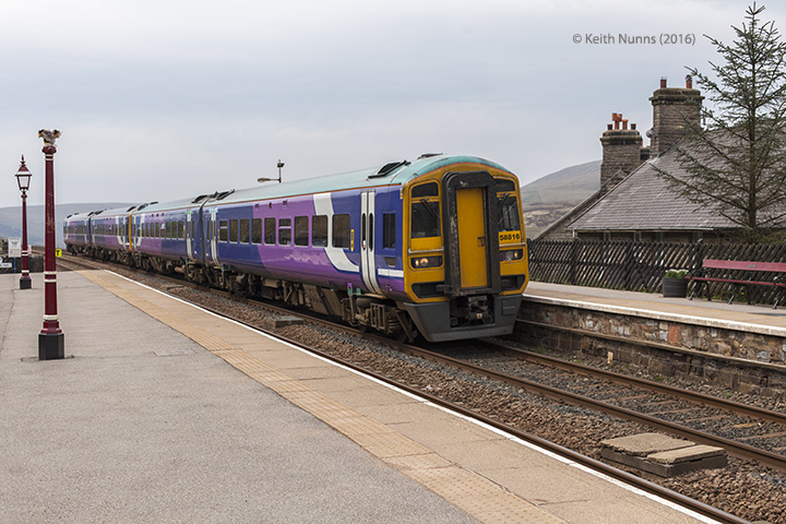 256630: Garsdale Station - Passenger Platform: Elevation view from the north