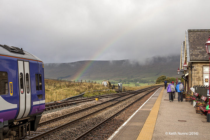 247210: Ribblehead Station Passenger Platform (Up): Context view from the south