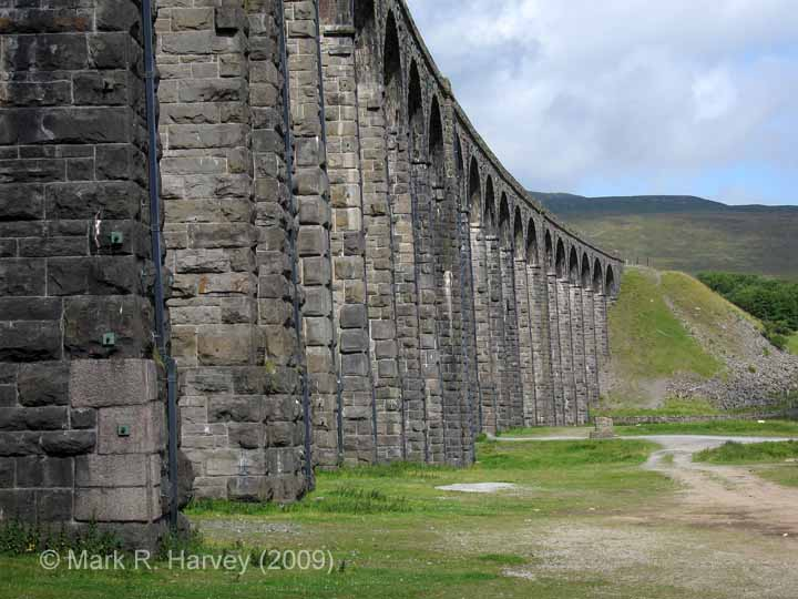 Ribblehead Viaduct: Pier repairs seen in context (looking north-west)