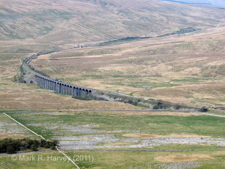 Ribblehead Viaduct: Context view from the summit of Park Fell