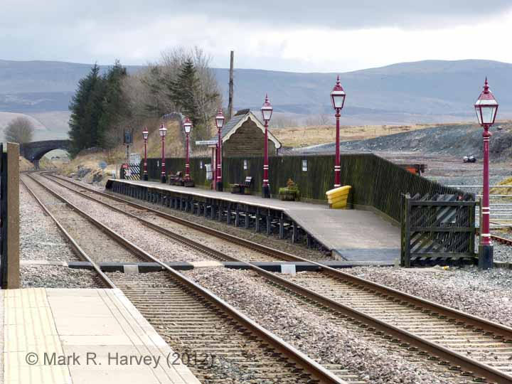 Ribblehead Station - Passenger Platform (Down): Context view from the north-west