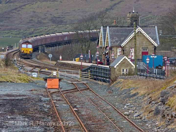 Ribblehead Quarry Siding: Elevation view from the south-east