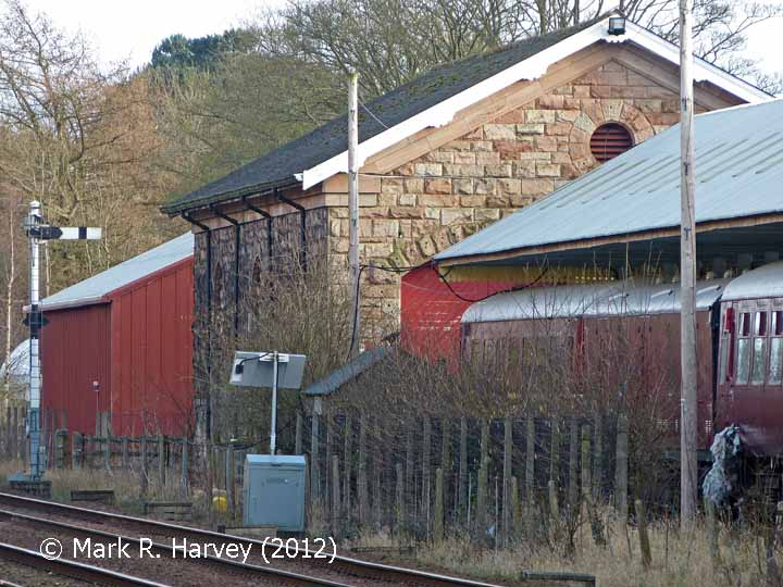 Appleby Station Goods Shed: North-north-west elevation view