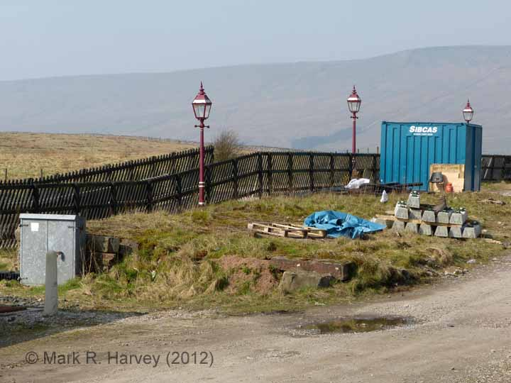 Ribblehead Station Cattle Dock: Elevation view from the east
