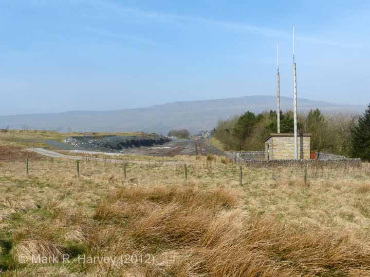 Ribblehead Quarry Siding: Context view from the south-east (1)