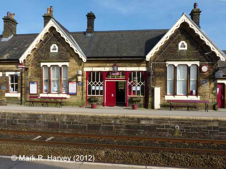 Settle Station Booking Office: Western elevation view (2)