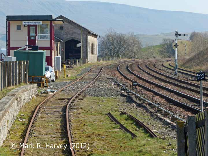 Southern approach to Kirkby Stephen Station viewed from the north-west (2)