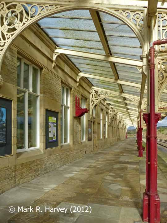 Hellifield Station: 'Up' Platform and canopy