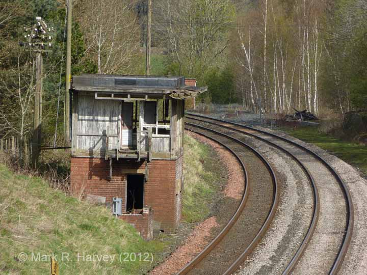 Long Meg Sidings Signal Box: Context view from the south (2)