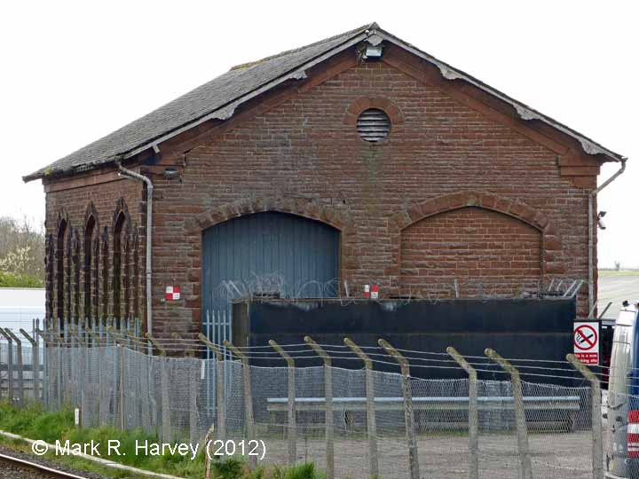 Langwathby Station Goods Shed: North elevation view