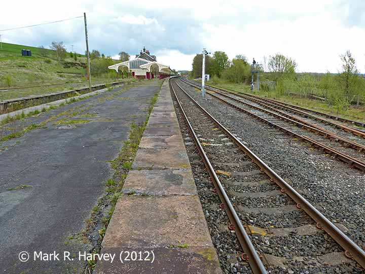 Hellifield Station and 'Down' loop / sidings area, viewed from NW
