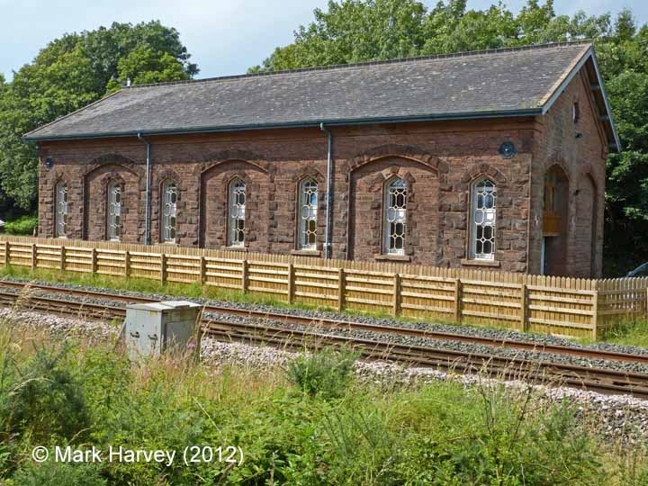 Armathwaite Station Goods Shed: North-east elevation view