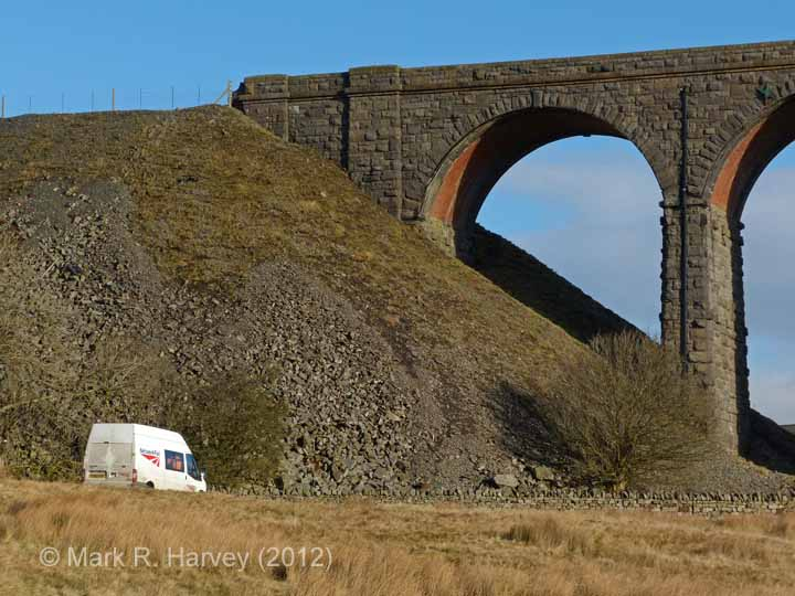 Ribblehead Viaduct: North-west end abutment and embankment