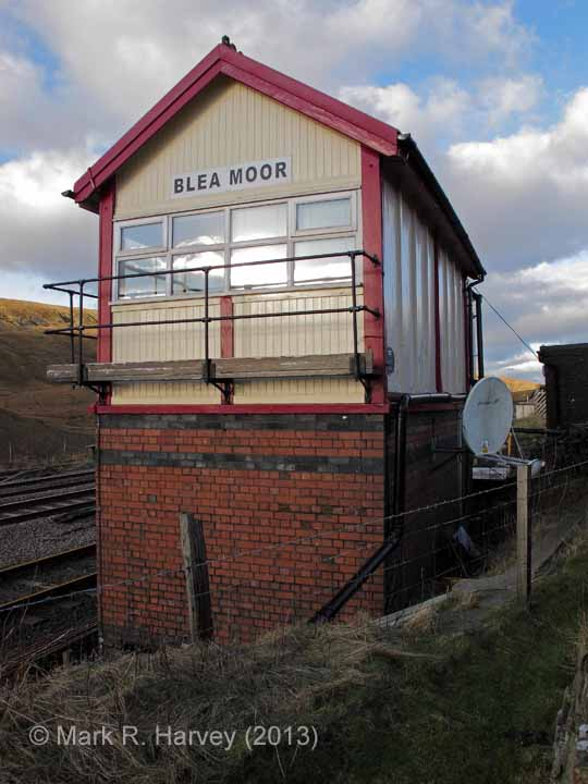 Blea Moor Signal Box: Elevation view from the south-east