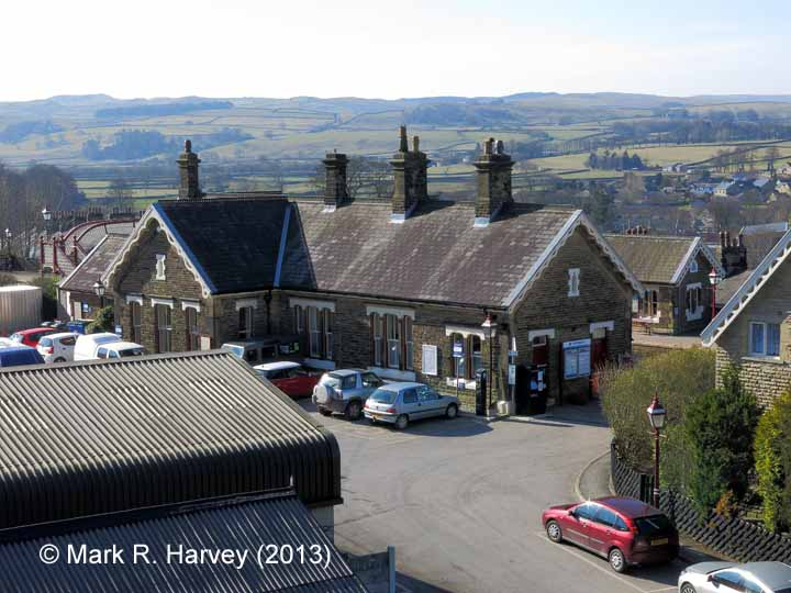 Settle Station Booking Office: Context view from the North-East