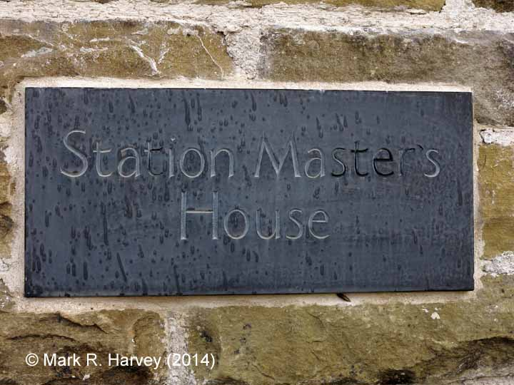Ribblehead Station Master's House: House name sign